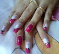 Nails Creative Nails, Nail Art Designs, Fashion Beauty, Pink, Nail Polish, Make Up, Diy Crafts, Fancy, Nail Ideas