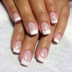 Super nails neutral design french tips Ideas - French manicure nails - French Tip Acrylic Nails, French Tip Nail Designs, White Tip Nails, French Manicure Nails, Manicure Y Pedicure, My Nails, Short French Tip Nails, French Acrylics, Acryl Nails