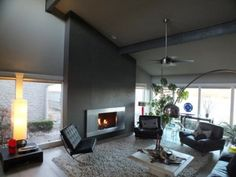 Contemporary fireplace surrounds living room transitional with ...