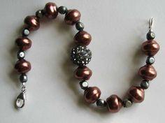 Pave crystal bead bracelet features warm by BeatriceBeeHandmade, $24.00