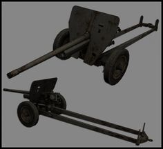 WW2 JAPAN ARTILLERY 3d model free