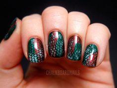 Pattern Nail Art for Fall Season