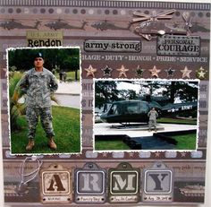 military scrapbooking layouts | Layout: ARMY | Layouts - Military