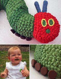 Love the feet for this caterpillar cake