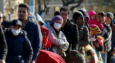 11-3-15 Christians Selling their souls to Islam? Food For Thought. Migrants wait in line in Germany.