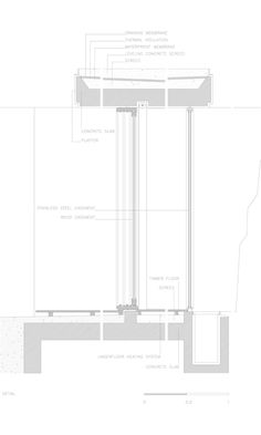 Since 1998 the Web Atlas of Contemporary Architecture Window Detail, Roof Detail, Portugal, Contemporary Architecture, Architecture Details, Casa Patio, Construction Drawings, Keep The Lights On, Ideal Tools