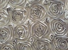 Silver Rosette Tablecloth - $73 including shipping!