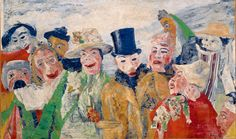 James Ensor - The Intrigue, (1890)  oil on canvas, 90 x 150 cm, Royal Museum of Fine Arts Antwerp
