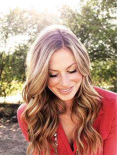 pretty dark blonde, I'd love to this to my hair.. but do dark underneath!