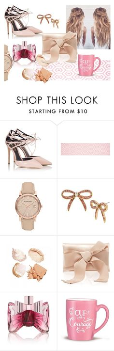 """baby rose"" by obsessedwithnicestuff ❤ liked on Polyvore featuring Fratelli Karida, Burberry, Betsey Johnson, Oscar de la Renta, Viktor & Rolf and Avon"