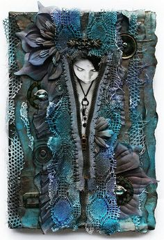 Rozbierz mnie undress me Home textile art mixed media Mixed Media Collage, Mixed Media Canvas, Collage Art, Mixed Media Artwork, Altered Canvas, Altered Art, Art Journaling, Steampunk, Art Populaire