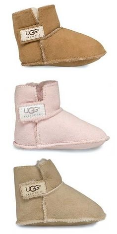 Baby UGG booties - on sale for $24.50 each! Free shipping with code: HOLIDAY http://rstyle.me/n/vang9nyg6