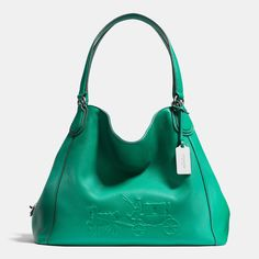 Coach :: EMBOSSED HORSE AND CARRIAGE EDIE SHOULDER BAG IN PEBBLED LEATHER