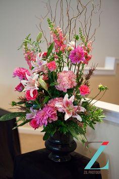 Church alter flowers | Church altar arrangement by Weddings by ... | ♥ Flowers | Bouquets ...