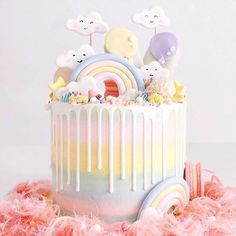 This soft and pretty cake from @luxeandthelady is everything sweet dreams are made of!⠀  ⠀  Share your baking, making, partying and caking with us by using #sweetmagazine or tagging us in your Instagram photos for the opportunity to see your snaps in our feed!⠀  ⠀  #sweetmagazine #cakedecorating #baking #childrenspartyideas #cake #rainbow #rainbowcake #buttercream #buttercreamcakes #buttercreamicing #kawaii #kawaiicake #sweet #fairyfloss #party #celebrate #dripcake #rainbowdripcake    #R