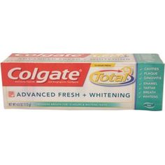 Colgate Total Anticavity Fluoride and Antigingivitis Toothpaste Clean Mint, OZ, Multicolor Toothpaste Brands, Stained Teeth, Mouthwash, Cavities, Active Ingredient, 6 Years, Whitening