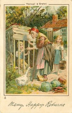 HANSEL & GRETEL  witch gives bone to boy in cage