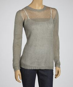Take a look at this Heather Gray Crewneck Sweater by Yoki on #zulily today!