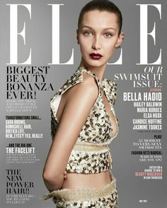 Bella Hadid by Terry Tsiolis on Elle US May 2017 Cover