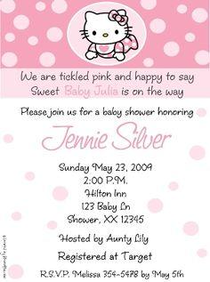 Estilo De Invitaciones Para Baby Showers: Hello Kitty   GuiaparaPadres.com