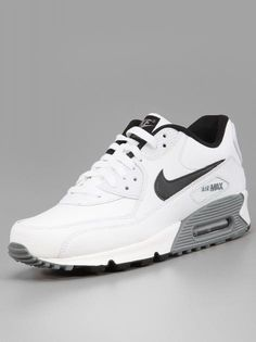 Nike Air Max 90 Essential Ltr White Black Cool Grey