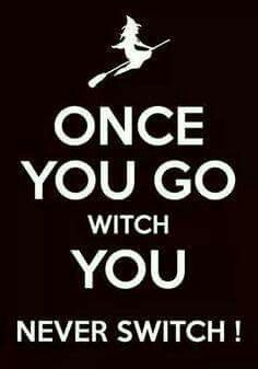 once you go witch you never switch, witch riding a broom hat Witch Quotes, Witch Meme, Which Witch, Halloween Quotes, Halloween Crafts, Halloween Ideas, Halloween Humor, Halloween Scene, Halloween Witches