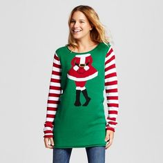 Women's Ugly Christmas Mrs. Claus Tunic - Ugly Christmas Sweater