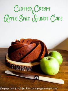 Clotted Cream & Apple Spice Bundt Cake {GF}  https://bakinginpyjamas.com/2016/08/18/clotted-cream-apple-spice-bundt-cake-gf-bundtbakers/