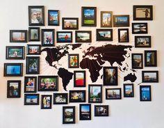 Room decor, world travel decor, travel wall decor, photo wall art, picture. Rooms Home Decor, Diy Home Decor, Bedroom Decor, Bedroom Wall, Bedroom Ideas, Design Bedroom, Bed Room, Nursery Decor, Master Bedroom