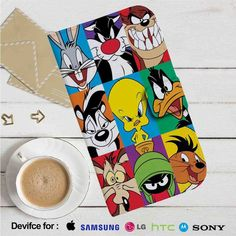 Looney Tunes Characters Leather Wallet iPhone 4/4S 5S/C 6/6S Plus 7| Samsung…