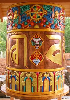 Prayer Wheel personally blessed by the Dalai Lama; Sawtooth Botanical Gardens; Ketchum, ID | photo by Heidi Andrade