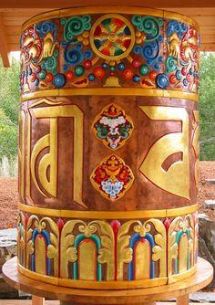 Prayer Wheel personally blessed by the Dalai Lama; Sawtooth Botanical Gardens; Ketchum, ID   photo by Heidi Andrade