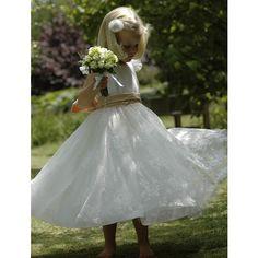 Nicki McFarlane flower girl dress.