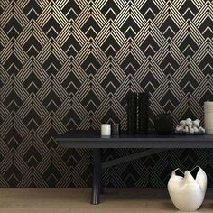 Try wall stencils instead of expensive wallpaper! Bring the look of a gone-by era with this beautiful art deco design. Our stencil designs are the perfect alternative to expensive wallpaper and a lot more fun and easy to do!