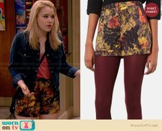 Lennox's floral jacquard shorts on Melissa and Joey.  Outfit Details: http://wornontv.net/33486/ #MelissaandJoey