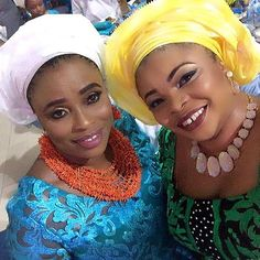 Dayo Amusa, Her Mum & Fathia Balogun All Spotted At An Owanbe Party - Celebrities - Nigeria