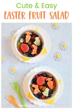 Easter Fruit Salad Recipe, Fruit Salad Recipes, Easter Recipes, Food Art For Kids, Cooking With Kids, Kids Meals, Family Meals, Breakfast For Kids, Healthy Snacks