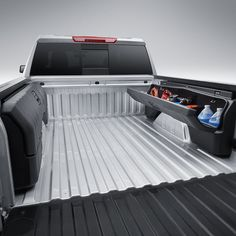 2019 Silverado 1500 Side Mounted Bed Storage Boxes, Short Box, without MultiPro Tailgate 84705350 Truck Accesories, Truck Bed Accessories, Offroad Accessories, Chevy Trucks, Pickup Trucks, Lifted Chevy, Chevy Colorado Accessories, 2016 Chevy Silverado Accessories, Truck Bed Storage