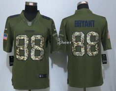 Dallas Cowboys 88 Bryant Green Salute To Service Limited Jersey