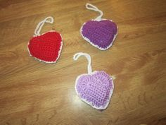 Crocheted heart with hanger. by KNITMANIAC on Etsy