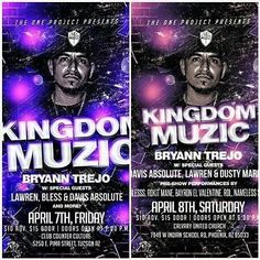 #Repost kingdom_muzic: @the1projectaz presents Tomorrow and Saturday Tucson and Phoenix get ready Kingdom Muzic is coming to you! Info on flyers. See you there. #kingdommuzic