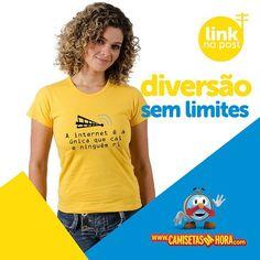 Camiseta Internet : A internet é a única que cai e ninguém ri.  http://www.camisetasdahora.com/p-24-255-4247/Camiseta---Internet | camisetasdahora