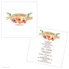 Flouncy Floral Wedding Invitation