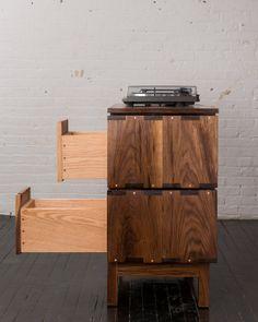 Greenpoint, Brooklyn, NY, USA : Walnut Record Player Stand ~ Krrb
