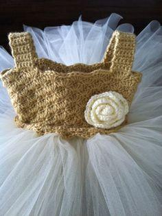 Love this crochet tutu dress!  Etsy - Teresa Restegui http://www.pinterest.com/teretegui/ ✔