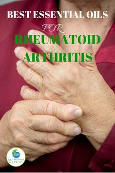The Best Essential Oils for Rheumatoid Arthritis to Help Reduce Inflammation, Pain and Stiffness! Finding the best essential oils for rheumatoid arthritis can help you relieve arthritis pain naturally! Rheumatoid arthritis is an auto-immune disease Rheumatische Arthritis, Reactive Arthritis, Yoga For Arthritis, Natural Remedies For Arthritis, Rheumatoid Arthritis Treatment, Arthritis Pain Relief, Types Of Arthritis, Inflammatory Arthritis, Juvenile Arthritis