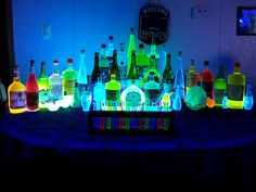 Glow in the dark Bar!Something wicKED this way comes....: It was a dark and stormy night....