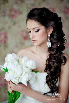 loose side braid | Long, loose, side braid. | Wedding - Long Hair
