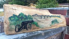 Hand Painted Vicksburg, MS Tribute on Mississippi Petrified Wood.       #artsandcrafts #petrifiedwood #fossil #rock #minerals #handpainted #originalart #nature #decor #naturedecor #crafts #art #cannon #civilwar #mississippiriver #river #bridge