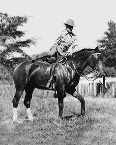 Charles Howard and Seabiscuit in later years